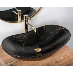 Umywalka Nablatowa Rea Royal Marble Black