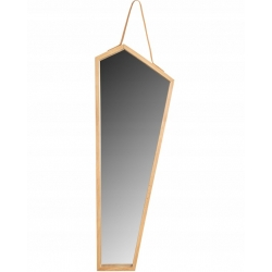 Lustro Drewniane na Pasku 85 cm