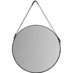 Lustro z czarną ramą na pasku 60 cm