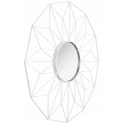 Lustro Metaowe Geometryczne Białe 58 cm