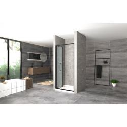 Drzwi Prysznicowe Rea Rapid Fold Czarne 80 cm Składane