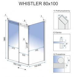 Kabina Prysznicowa Rea Whistler 80x100