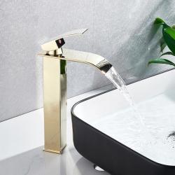 Bateria Umywalkowa Lotus Złota Wysoka Calani