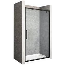 Drzwi Prysznicowe Rea Rapid Swing Black 100 cm