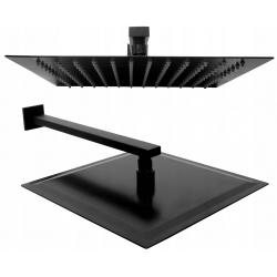 Deszczownica Ultra Slim Kwadratowa 30x30 Czarna