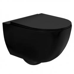 Misa WC Bezrantowa Rea Czarna Carlo Mini Flat Rimless Matowa