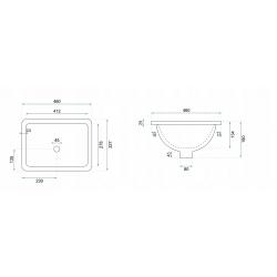 Umywalka Podblatowa Rea Adela